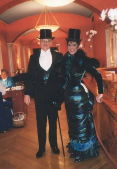 Bob and Cathie Jung in their Victorian Costumes.